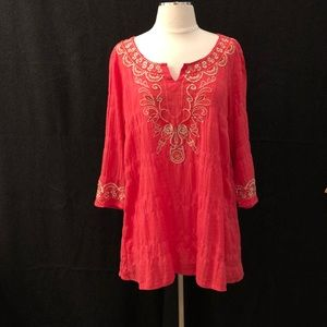Monoreno embroidered tunic